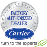 Carrier Heating and Cooling Factory Authorized Dealer logo